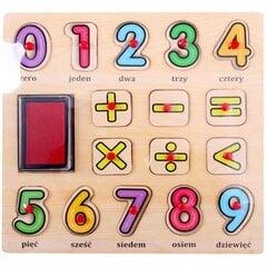Medinė dėlionė su smeigtukais - skaičiai Playme kaina ir informacija | Medinė dėlionė su smeigtukais - skaičiai Playme | pigu.lt