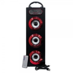 Mocco Tower Portable Speaker Bluetooth 4.0 / 15W / 360 Surround / Micro SD / USB / Remote / FM / Red