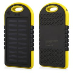 Mocco F1 Carabiner Solar Power Bank 6000mAh Universal Charger for Devices 5V 1A + Micro USB Cable Yellow