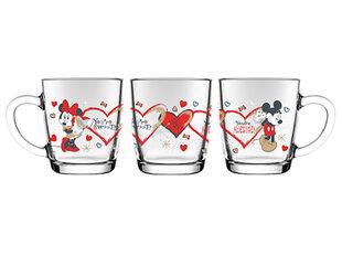 Puodelis Mickey ir Minnie Širdis, 350 ml kaina ir informacija | Taurės, puodeliai, ąsočiai | pigu.lt