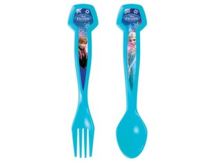 Disney vaikiškas šaukštelis ir šakutė Frozen Blue