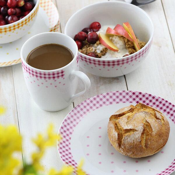 Domotti desertinė lėkštė Breakfast Red, 20 cm