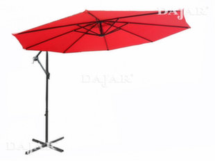 Kampinis lauko skėtis Patio 3, raudonas kaina ir informacija | Skėčiai, markizės, stovai | pigu.lt