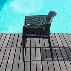 Kėdė Nardi Net Antracite, pilka kaina ir informacija | Lauko kėdės, foteliai, pufai | pigu.lt