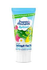 Aviečių skonio vaikiška dantų pasta Happy moments Drakoša 60 ml