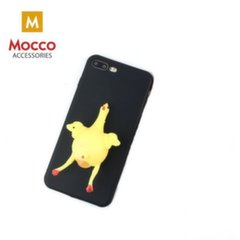 Mocco 4D silikoninis nugarėlės dangtelis su minkštu viščiuku telefonui Samsung J330 Galaxy J3 (2017), Juodas kaina ir informacija | Telefono dėklai | pigu.lt