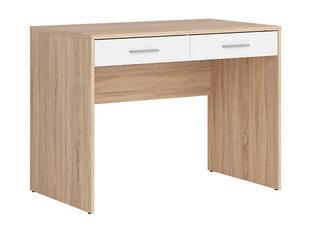 Rašomasis stalas Nepo 2S, baltos/ąžuolo spalvos kaina ir informacija | Kompiuteriniai, rašomieji stalai | pigu.lt