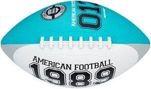 Amerikietiško futbolo kamuolys New Port 16RI, mėlynas/baltas/pilkas, 26 cm kaina ir informacija | Vandens, smėlio ir paplūdimio žaislai | pigu.lt