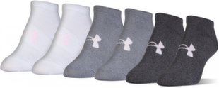 Kojinės moterims Under Armour Solid 6 PKS No Show 1312701-040 (6 vnt.)