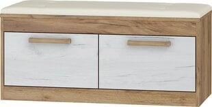 Batų spintelė Maximus 2D, balta/ruda kaina ir informacija | Prieškambario baldai | pigu.lt
