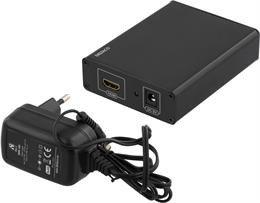 DELTACO konverteris HDMI v1.3 19 pin ho to VGA HD15 ho and audio 3.5mm ho, 1080p, Juodas / HDMI-VGA