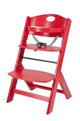 Medinė maitinimo kėdutė BabyGo Family, raudona kaina ir informacija | Maitinimo kėdutės | pigu.lt