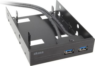 "Akasa fixing on 2.5"" + 2x USB 3.0 AK-HDA-06BKV2"