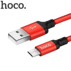Hoco Premium Times Speed X14 Strong Micro USB to USB Data & Charger Cable 1m Black/Red