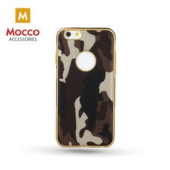 Mocco Army Back Case Silicone Case for Apple iPhone 6 / 6S Brown kaina ir informacija | Telefono dėklai | pigu.lt