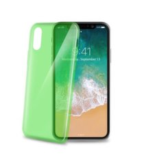 Apple iPhone X Cover UltraThin By Celly Litght Green kaina ir informacija | Apple iPhone X Cover UltraThin By Celly Litght Green | pigu.lt