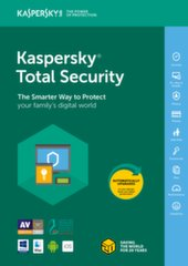 Kaspersky Total Security – 2018 nauja licenzija (3 įreng.)