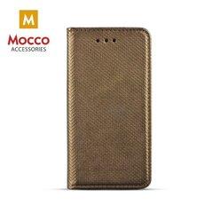 Apsauginis dėklas Mocco Smart Magnet Book Case, skirtas Nokia 2 telefonui, tamsiai auksinis kaina ir informacija | Telefono dėklai | pigu.lt
