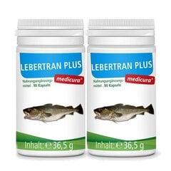 Maisto papildas su menkių kepenų aliejumi Medicura, 90 kapsulių kaina ir informacija | Vitaminai ir maisto papildai gerai savijautai | pigu.lt