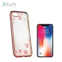 Blun Diamond silikoninis nugarėlės dangtelis telefonui Apple iPhone X / iPhone 10, Rožinis kaina ir informacija | Telefono dėklai | pigu.lt