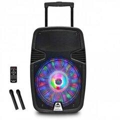 Garso kolonėlė iDance Groove 420 MK3 su 2 belaidžiais mikrofonais ir valdymo pultu,Bluetooth, 500W, juoda