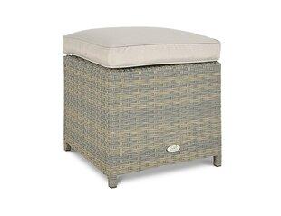 2-jų pufų komplektass Moniz, pilkas kaina ir informacija | Lauko kėdės, foteliai, pufai | pigu.lt