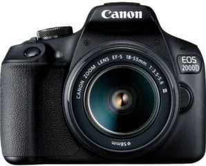 Canon EOS 2000D + 18-55mm III Kit, Juoda
