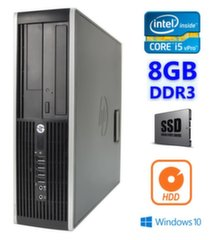 HP 8300 Elite SFF i5-3470 8GB 120SSD+250GB DVDRW WIN10Pro