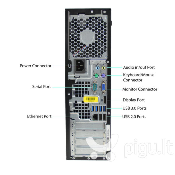 HP 8300 Elite SFF i5-3470 4GB 120SSD+500GB DVDRW WIN10Pro