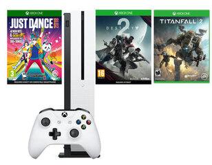 Microsoft XBOX ONE S 1TB White + Just Dance 2018 + Titanfall 2 + Destiny 2