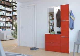 Prieškambario komplektas Gilbert, baltas/raudonas Gilbert kaina ir informacija | Prieškambario baldai | pigu.lt