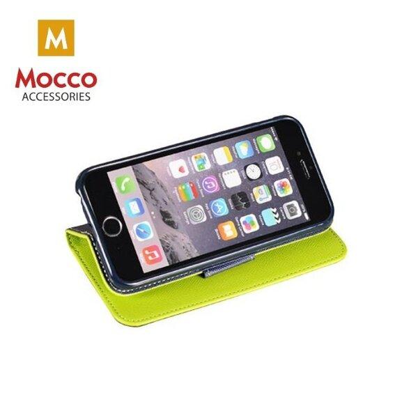 Atverčiamas dėklas Mocco Fancy Book Case, skirtas Huawei P20 telefonui, žalias/mėlynas internetu