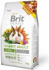 Maistas suaugusiems triušiams BRIT ANIMALS, 3 kg kaina ir informacija | Maistas graužikams | pigu.lt