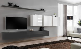 Sekcija Switch VII, pilka/balta kaina ir informacija | Sekcijos | pigu.lt