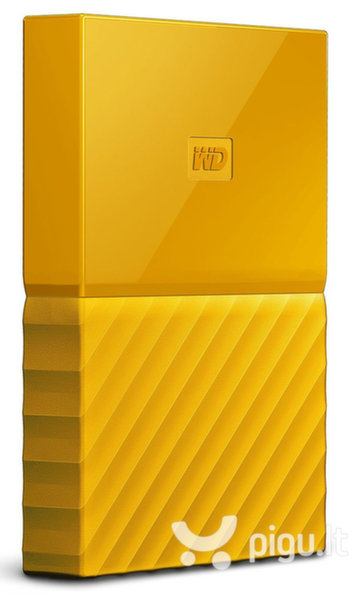 "Western Digital My Passport 2.5"" 2TB USB 3.1 Geltona"