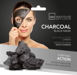 Valomoji veido kaukė IDC Institute Charcoal Black Mask 22 g