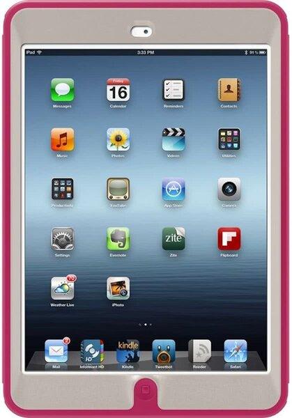Dėklas-stovasOtterBox Defense, skirtas Apple iPad Mini planšetiniam kompiuteriui, rožinis