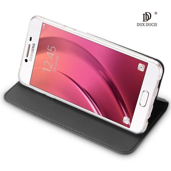 Atverčiamas dėklas Dux Ducis Premium Magnet Case, skirtas Sony XZ2 telefonui, pilkas