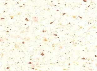 Virtuvinis stalviršis 220 cm, baltas/rudas kaina ir informacija | Virtuvinis stalviršis 220 cm, baltas/rudas | pigu.lt