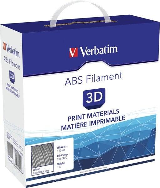 Filamentai FIL Verbatim ABS 1,75mm sidabriniai 1kg