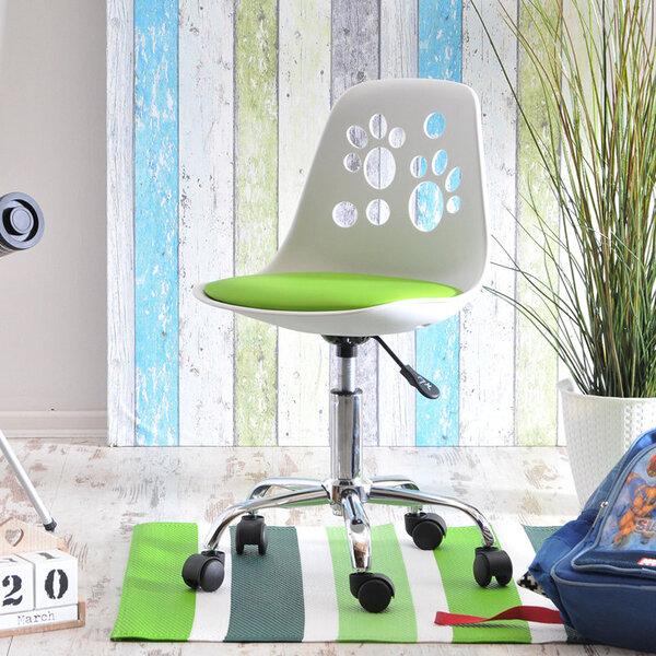 Vaikiška kėdė Foot, balta/žalia
