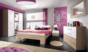 Miegamojo baldų komplektas Vicky 180, ąžuolo/balta