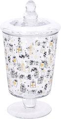 Stiklinis serviravimo indas su dangteliu, 1 l kaina ir informacija | Indai, lėkštės, pietų servizai | pigu.lt