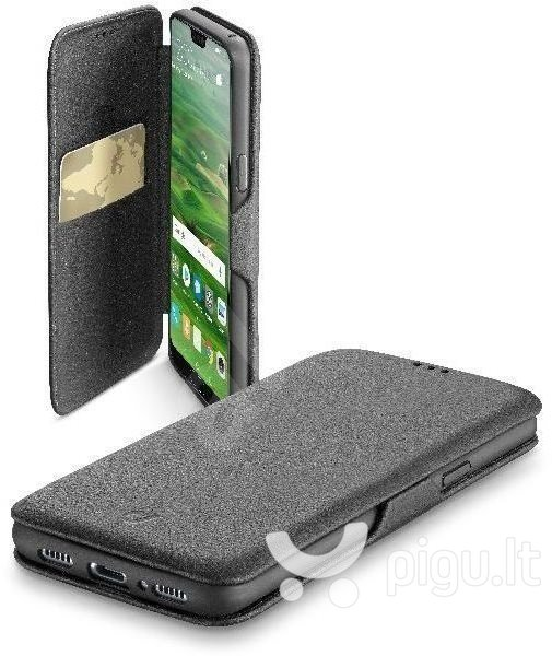 Apsauginis dėklas Huawei P20 Lite Case Book Clutch By Cellular Black