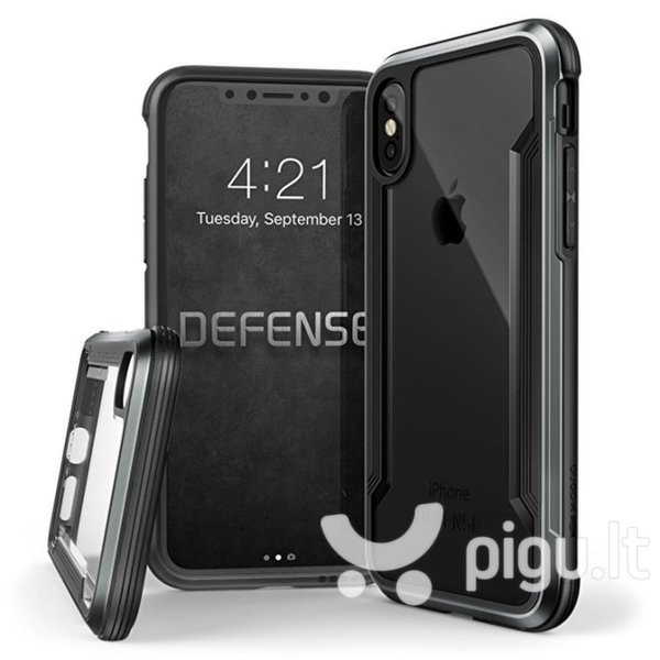 Apsauginis dėklas Apple iPhone X Defence Ultra Cover By Xdoria Black