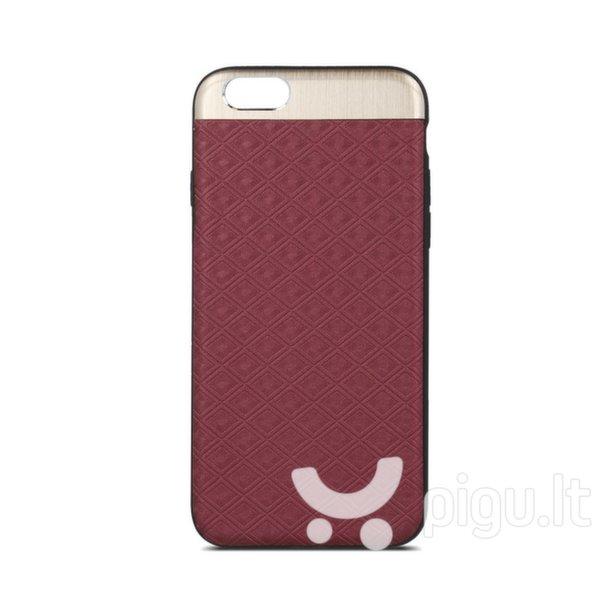 Apsauginis dėklas Beeyo Skin Silicone Back Case With Texture And Metal Elements Apple iPhone X Red