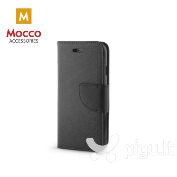 Apsauginis dėklas Mocco Fancy Book Case Huawei P10 Plus Black