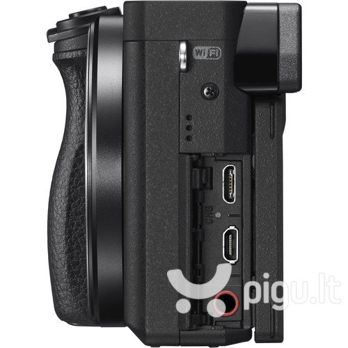 Sony Alpha A6300 + 18-105mm f/4.0 G OSS rinkinys, Juoda