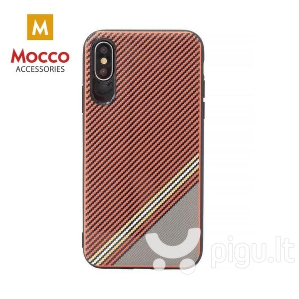 Apsauginis dėklas Mocco Trendy Grid And Stripes Silicone Back Case Samsung G950 Galaxy S8 Red (Pattern 1)