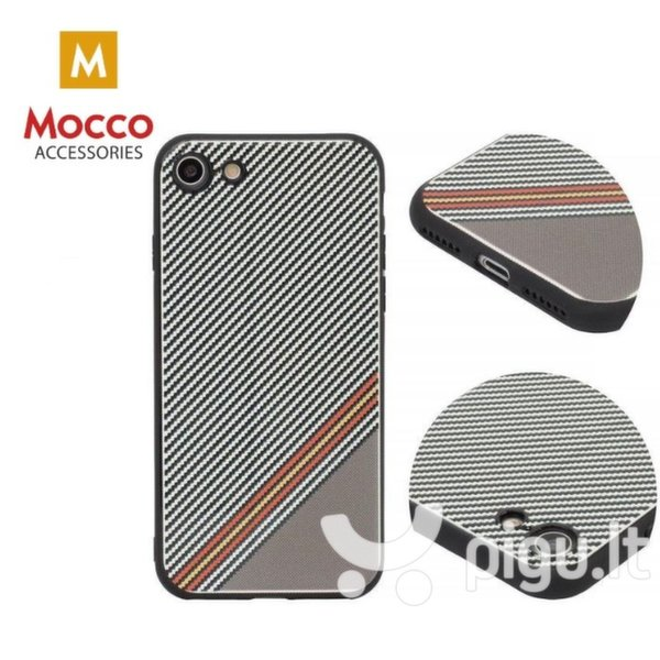Apsauginis dėklas Mocco Trendy Grid And Stripes Silicone Back Case Apple iPhone X White (Pattern 1)